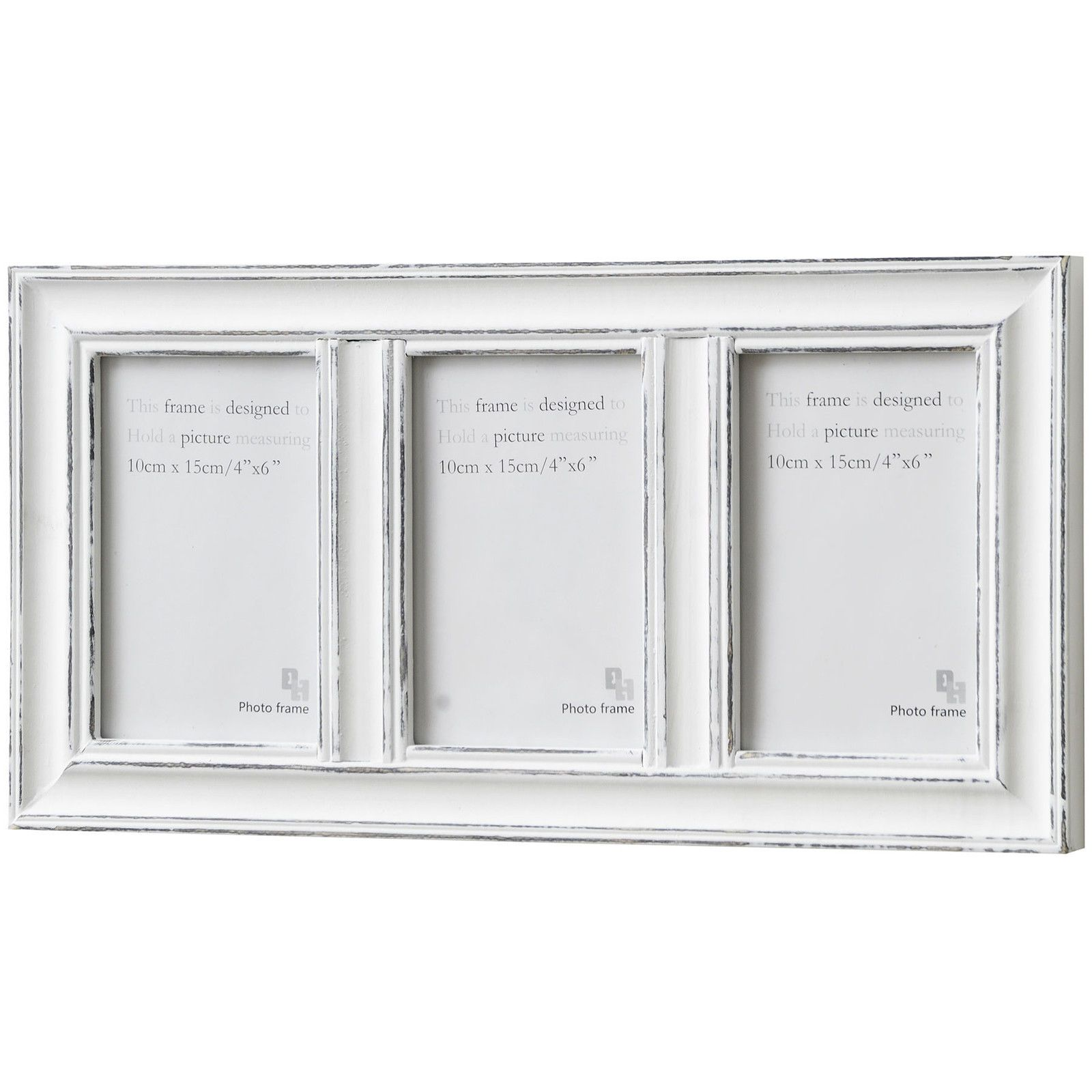 Antique White Multi 3 Frame Wall Hanging Photo Picture Frame