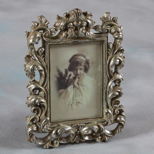 Baroque Style Antique Silver Photo Picture Frame Gift 7 X5