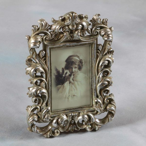 Baroque Style Antique Silver Portrait Photo Frame For Picture 6 X4