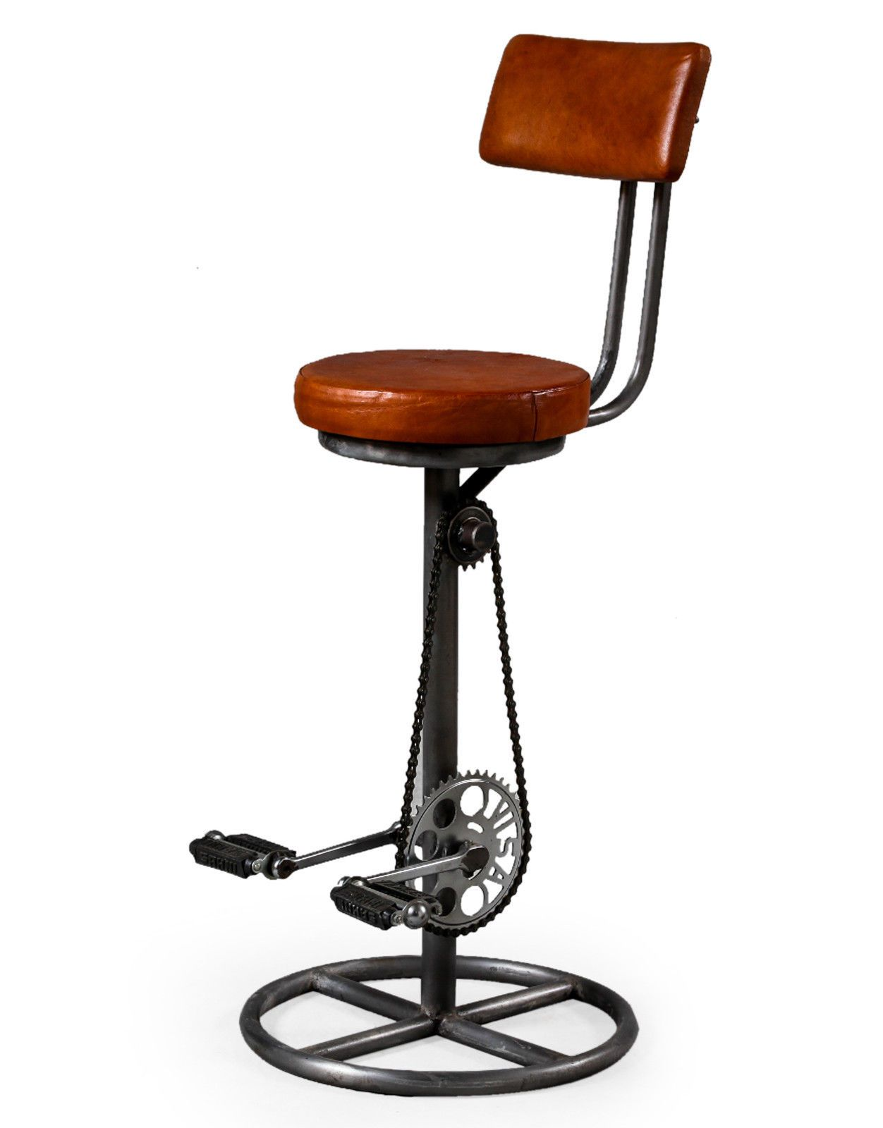 Industrial Stool With Back Zef Jam